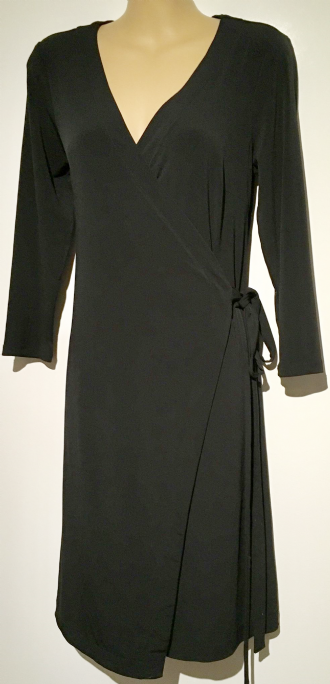 H&M BLACK FULL WRAP NURSING FRIENDLY DRESS SIZE S UK 10